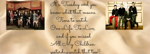 It's Tuesday, time for OLTL!
